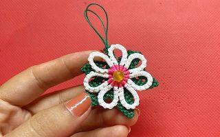 手工绳编的技巧,带你学习如何编制白花鬼针草!