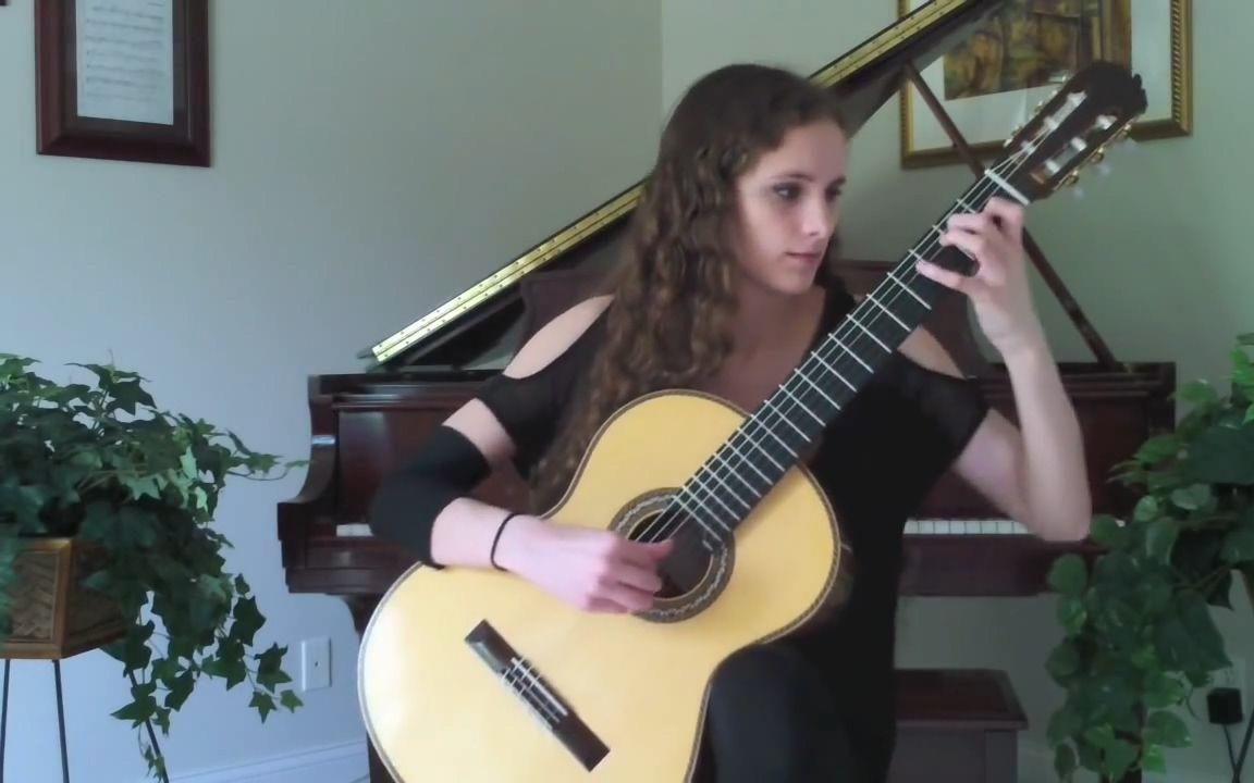 古典吉他美女獨奏 帕格尼尼Paganini隨想曲No. 5_嗶哩嗶哩 (゜-゜)つロ 干杯~-bilibili