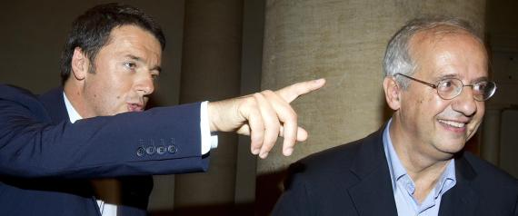 Il premier Matteo Renzi insieme con Walter Veltroni
