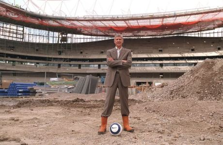 Image result for arsene Wenger picture building the emirates