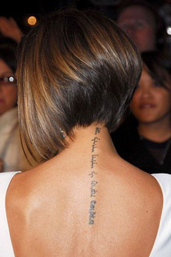 victoria beckham's neck tattoo