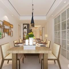 Metal Kitchen Table Sets Painting Cabinets 餐厅利用玻璃格栅门将其与厨房区分 金属几何装饰品改变了单一的白墙 与 与黑色黄铜吊灯张扬着工业设计的精致和硬朗 实木家具厚重的餐桌 餐椅以自然纹理呈现着材质的