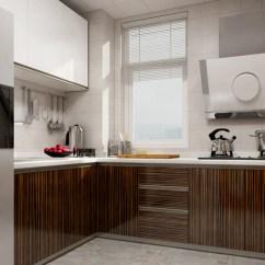 Kitchen Hood Design Concrete Countertops L形橱柜的设计 充分利用了空间 增大了厨房的活动空间 抽油烟机设计上 增大了厨房的
