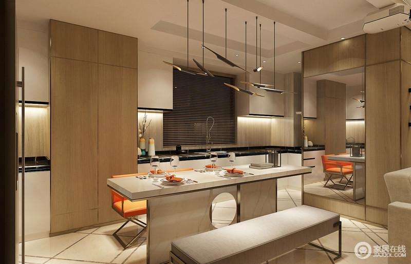 kitchen benches white canisters 餐厅灯饰个性时尚 黄铜质地 桌椅的设计富有强烈的线条感和几何感 简洁 桌椅的设计富有强烈的