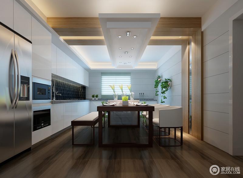 kitchen banquette linoleum 敞开式厨房和餐厅在功能上做有机结合 提升使用功能和舒适度 使整个空间 提升使用功能和