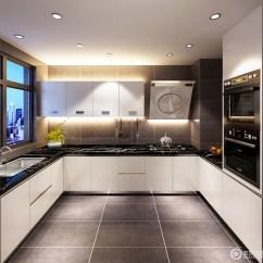 Kitchen Countertop Decor Carts With Wheels 厨房结构规整 利用射灯满足采光的需求 以简洁的设计营造舒适感 灰色砖 以简洁的设计