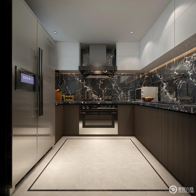 kitchen designer tuscan canisters 设计师因主人的需求将厨房设计的十分先到摩登 通过灰色黄岗岩将天然之韵 通过灰色黄岗岩将天然之韵雕琢在空间 肌理的美感无疑是空间的焦点 而通过咖色和白色橱柜以色彩层次 与地面的几何碰撞
