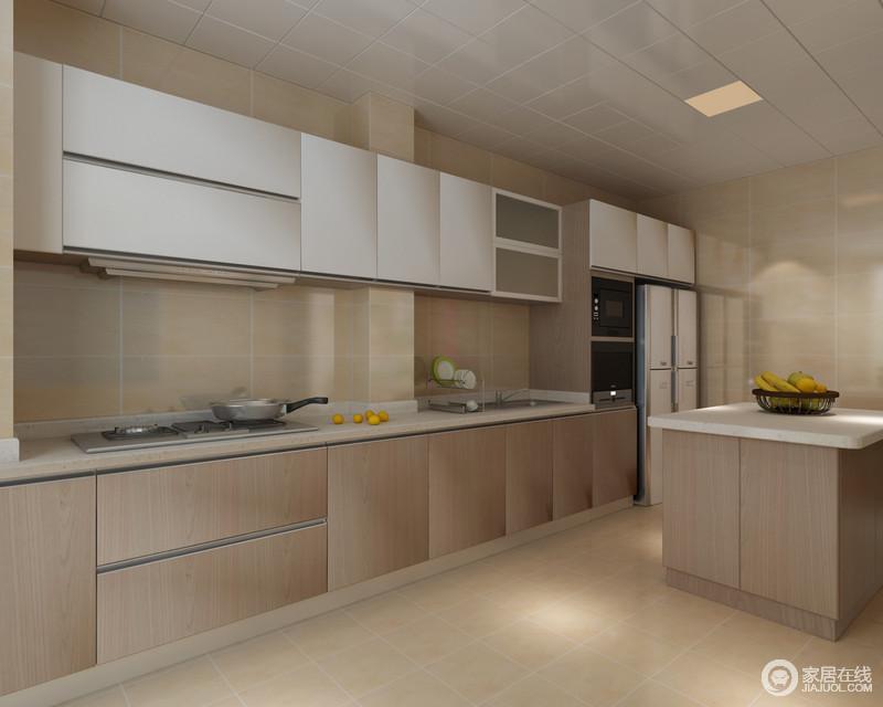 metal kitchen island step stool 厨房与整体的设计概念相契合 中性浅色砖石铺贴出了简洁和温实的效果 中性浅色砖石铺