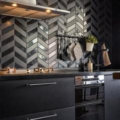 Cabin Kitchen Decor B&q Kitchens 黑色厨房效果图 黑色厨房装修效果图 2019黑色厨房装修图片 家居在线 北欧风格厨房装修效果图