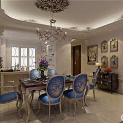 Kitchen Napkins Large Island For Sale 饰以优美描金印花的孔雀蓝餐椅 以造型上的不同彰显着主人的地位 雕花 以造型上的不同