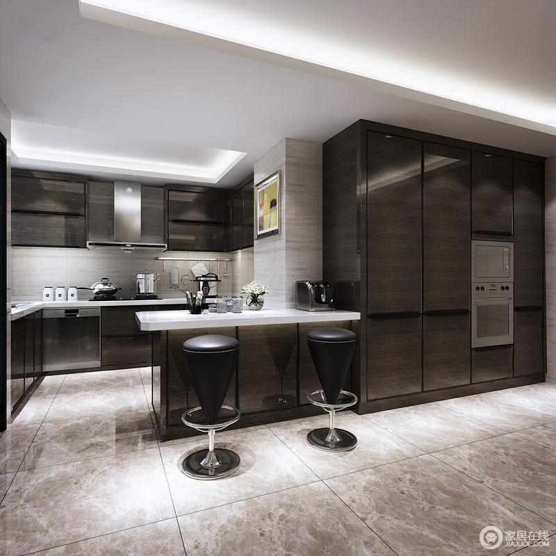 lowes kitchens honest kitchen dog food 厨房格调时尚 布局合理且功能性强 深褐色的木柜运用在整体橱柜 吧台及 深褐色的木柜
