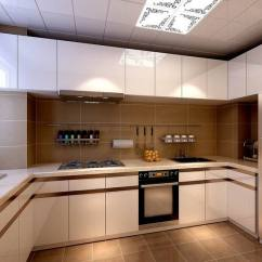 Design A Kitchen Online Cabnets 厨房设计满足了屋主强收纳需求 白色的上下柜完全占满空间 并将家电规整 白色的上下柜完全占