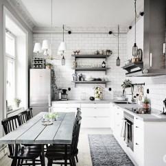 Kitchen Lights Ideas Lowes White Sink 餐厅和厨房增添一点北欧 填充墙砖和想法灯的房间 厨房 512376 家居在线