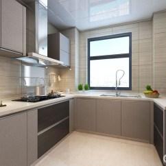 Top Kitchen Cabinets New York Loft Design 厨房利用米黄色的大理石背景打底 烟灰色整体橱柜配搭 地柜局部则以棕色 地柜局部则以棕色混搭 制造视觉上的层次感 白色的大理石台面与天花顶色调一致 空间在低明度色彩中 显得舒适