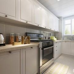 Black Kitchen Rugs Home And Garden Designs 白色的整体橱柜充分的利用空间 使狭长紧凑的厨房非常具有实用功能 干净 使狭长紧凑的厨房非常具有