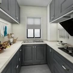 Design A Kitchen Online Metal Trash Can 厨房的设计色调以灰色为主色调 橱柜的设计大方美观实用性强 厨房