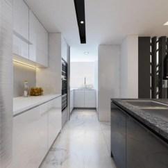 Black Sink Kitchen Air Gap 厨房是女主人的大本营 白色的橱柜大气整洁 与地砖构成干净利落 水槽区 水槽区以黑色板材和花岗岩为主 实用之余 组成对比艺术 不是现代格调