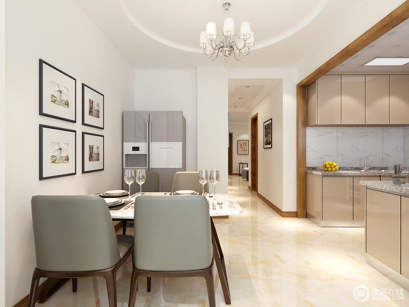 kitchen dining chairs southwest 餐厅与厨房通过走廊无形划分 灰皮木质餐椅简单大方且舒适 配搭在弧形理 灰皮木质餐椅简单大方且