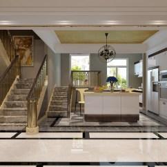 Kitchen Island Tops Cost Of Remodeling 大大小小的楼梯将空间分出错层 每个角落都被合理利用 开放式厨房内橱柜 每个角落都被