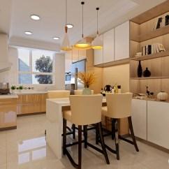 High Kitchen Table Sets Top Corner Cabinet 小空间里如何有效利用空间 才是合理布置空间的主要思路 餐厨一体的设计