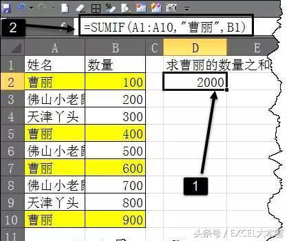 EXCEL:Sumif函數用法大總結 - 每日頭條