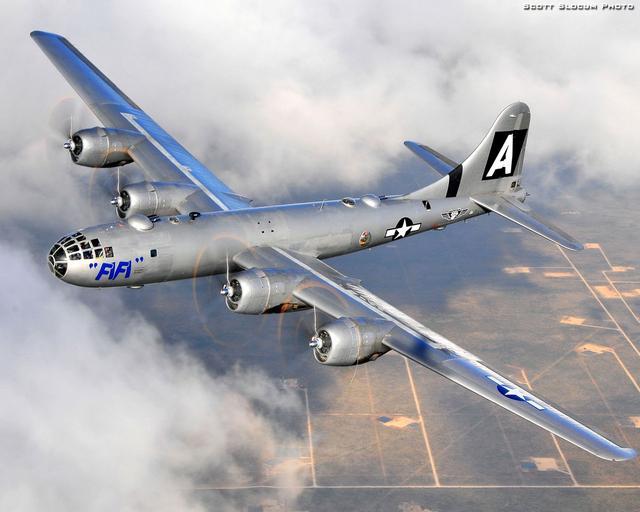 原子空投:美國B-29「超級空中堡壘」重型轟炸機 - 每日頭條