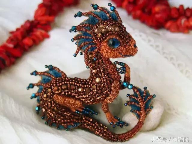 俄羅斯藝術家製作的龍形珠寶胸針,看上去很棒 - 每日頭條