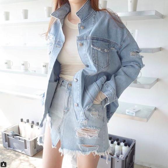 牛仔外套怎麼買。跟著最會穿搭韓國女團少女時代買就行嘞 - 每日頭條