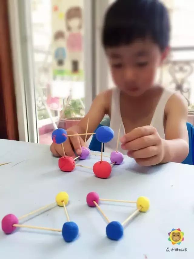 構建遊戲之牙籤彩泥構建三維立體造型 - 每日頭條