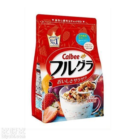 Calbee 卡樂比 水果顆粒果仁穀物營養麥片 800g729日元 - 每日頭條
