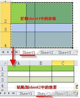 小會計:excel複製表格後。如何保持行高列寬不變? - 每日頭條