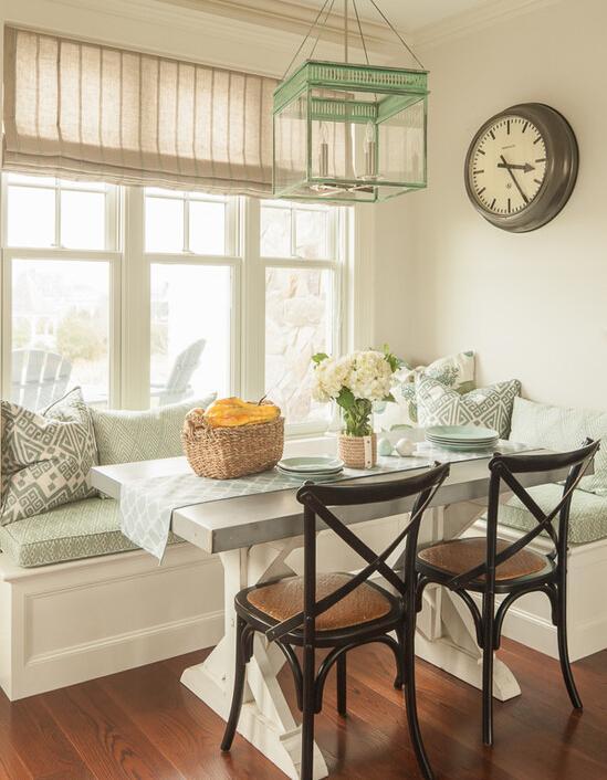 corner booth seating kitchen knife set 靠近阳光的就餐角落简单餐桌组合别样幸福 每日头条