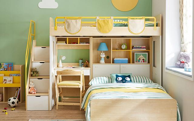 兒童房內最出色的組合家具,設計非常有空間感,超級節省空間,實用性強,多功能書桌組合床,聰明媽媽的 ...