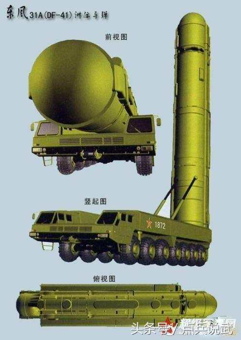 東風-41洲際飛彈再次發射,五大陸基洲際飛彈排第一 - 每日頭條