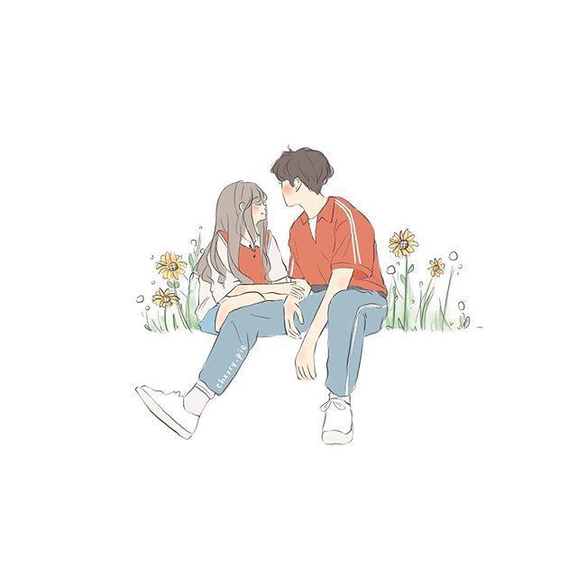 一組小情侶手繪插畫~致我們青春時那羞澀的愛情~ - 每日頭條