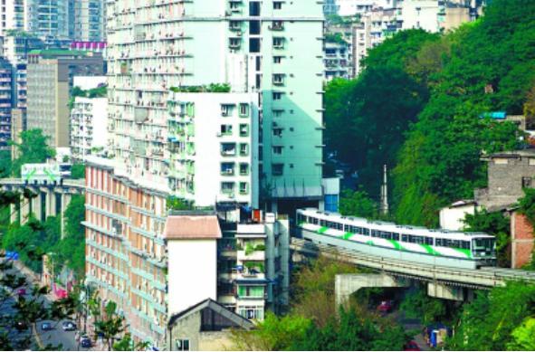 重慶輕軌穿居民樓PK日本高速穿寫字樓,哪個更牛? - 每日頭條