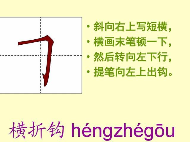 漢字基本筆畫名稱及寫法 - 每日頭條