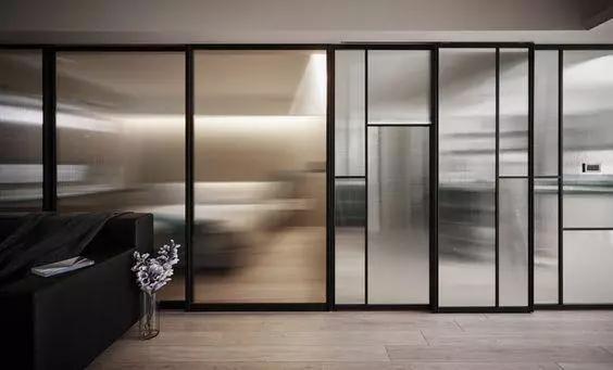 黑色細框玻璃門。設計師青睞的家居高顏值單品 - 每日頭條