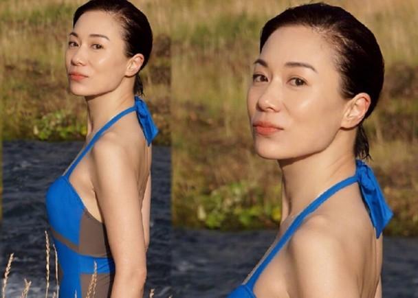 48歲張可頤曬性感泳裝照 皮膚白皙顯年輕 - 每日頭條