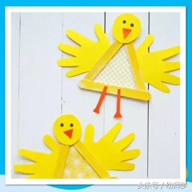 幼兒園手印手工,孩子們好喜歡玩! - 每日頭條