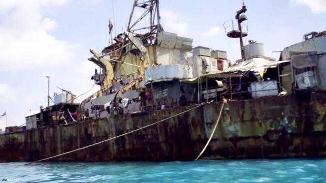 爛船,爛人,爛國家!菲律賓「坐灘」中國仁愛礁登陸艦新圖曝光 - 每日頭條