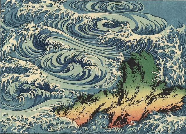 葛飾北齋筆下的海浪 - 每日頭條