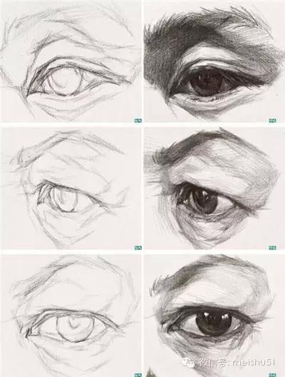 詳細的素描眼睛畫法。你還不來看?! - 每日頭條