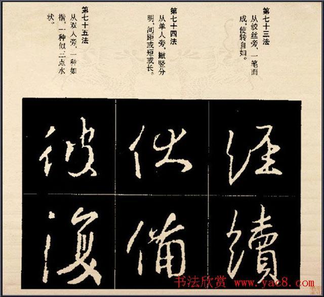 免費 王羲之書法字帖行書結構92法彩色簡版 - 每日頭條