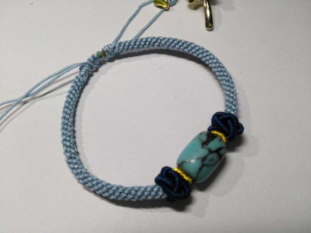 手工欣賞-松石桶珠玉米結手繩 - 每日頭條