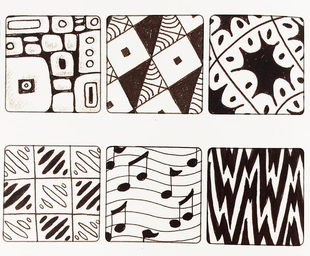 簡單就是終極的複雜——禪繞畫 基本圖樣(十) - 每日頭條
