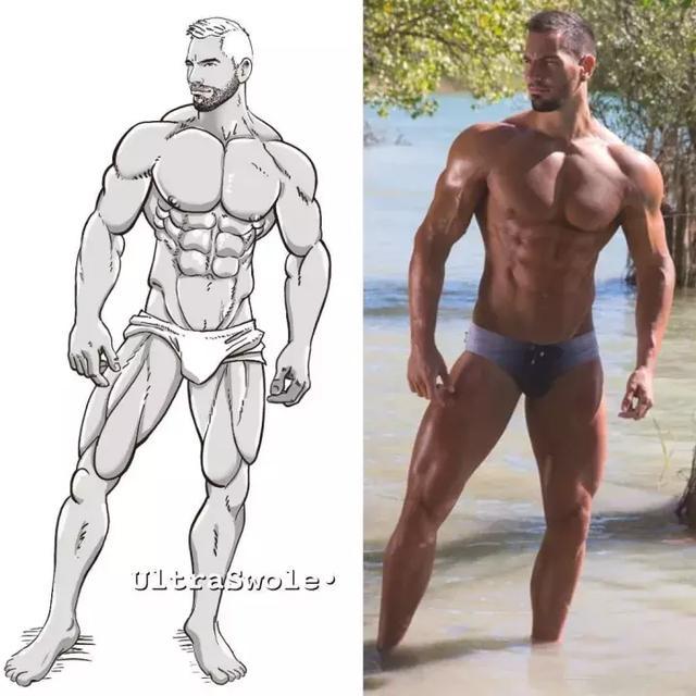 當肌肉男被畫成漫畫肌肉男。這也太帥了吧! - 每日頭條