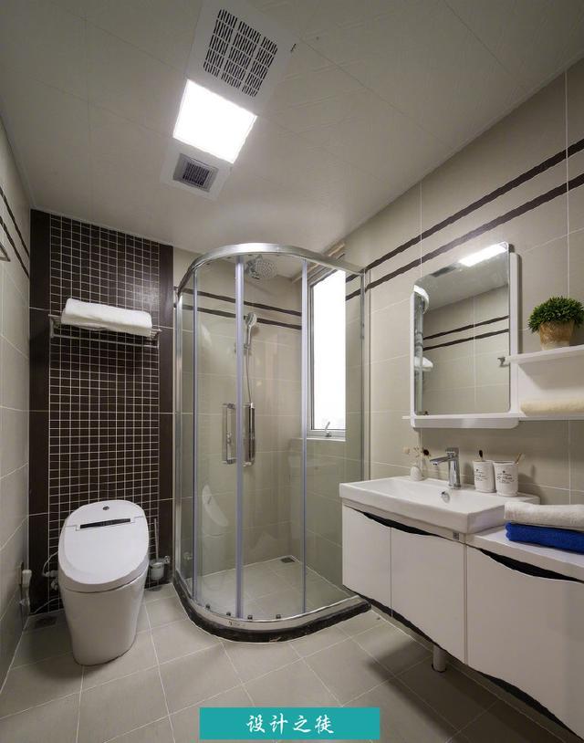 有淋浴間的廁所設計效果 - 每日頭條