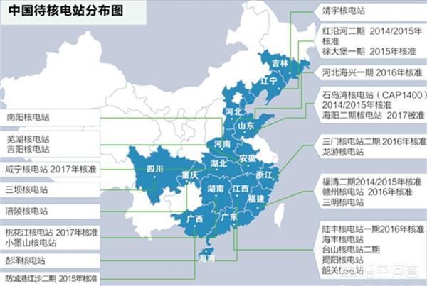 中國大陸核電廠分布:已建近20個,還有多個待建,有你家鄉嗎? - 每日頭條