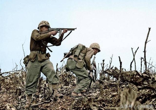 直擊二戰中太平洋戰場的美軍:先進的武器對付日軍的三八大蓋 - 每日頭條